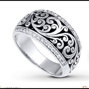 Lois Hill Ring 1/4 ct tw Diamonds Sterling Silver